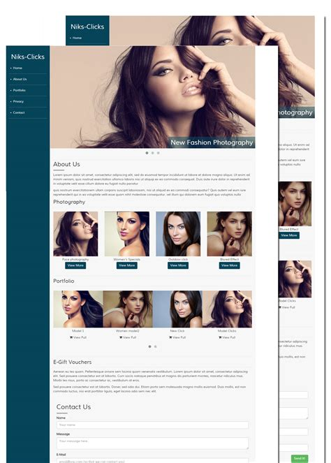 free photography templates free photography website templates