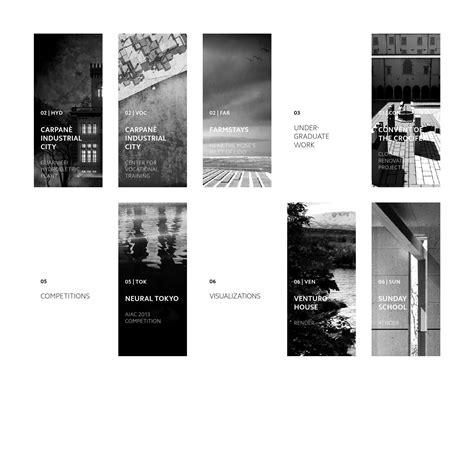 portfolio layout beispiel andrea cogo architektur portfolio portfolio und architektur