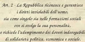 costituzione europea testo articolo 2 diritti della persona e doveri di solidariet 224