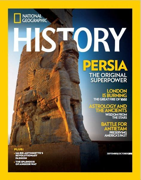 persia iran  original superpower cover  national geographic history magazine september