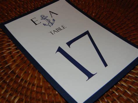 nautical table numbers nautical table numbers with navy blue backing
