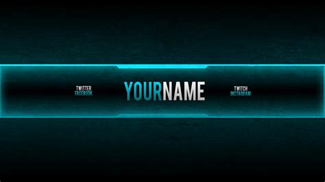 Youtube Gaming Banners Template Business Free Gaming Banner Template