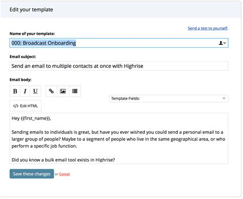 Template Testing Highrise Medium Email Broadcast Template