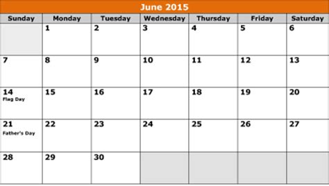 Calendar 2015 June Template Printable June 2015 Calendar 8ws Templates Forms