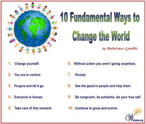 Ways To Change Your For The Better by 10 Ways To Change The World A Better World