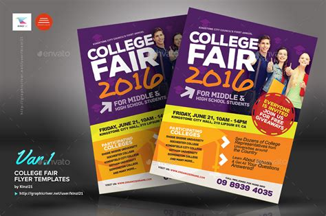 College Fair Flyer Templates By Kinzi21 Graphicriver College Fair Flyer Template