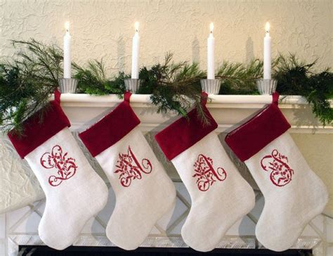 monogrammed christmas stockings personalized and monogrammed christmas stockings for the