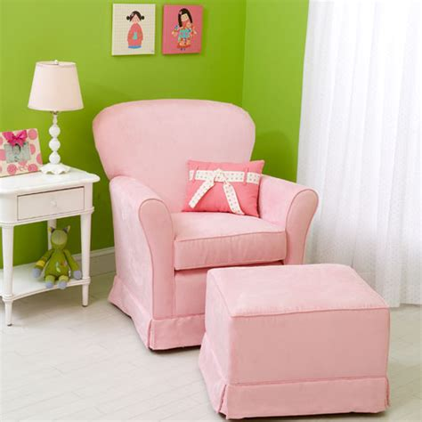 gliders for nursery micro suede baby pink regal cushion glider and
