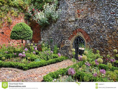 walled garden an walled garden stock image image of arch flowers 14905677