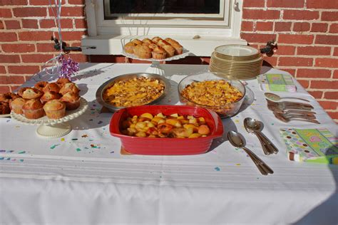 Outdoor Baby Shower Food Ideas by Baby Shower Outdoor Brunch Bushel And A Pickle