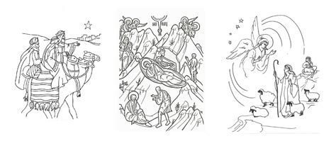 orthodox nativity coloring pages orthodox christian education christmas coloring symbolism