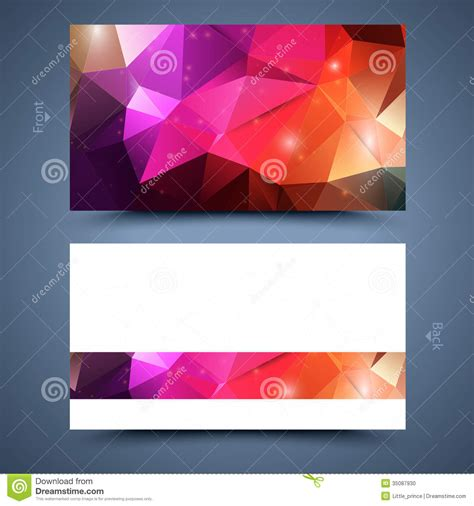 color business card templates color business card template abstract background stock