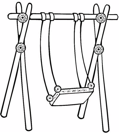 swing set coloring page coloring home