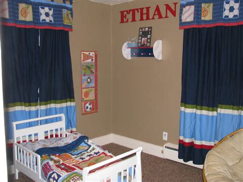 Baseball Bedroom Decor Authentically Abbie Ethan S New Toddler Room