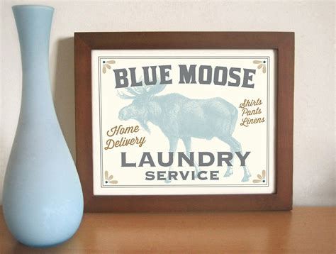 Laundry Room Signs Decor Laundry Room Decor Cabin Decor Moose Laundry Sign Rustic