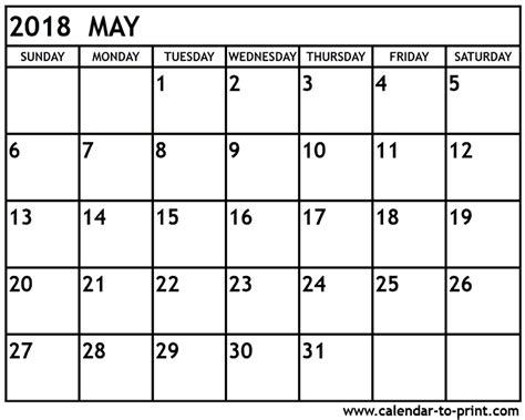 printable calendar may 2018 may 2018 printable calendar 2018 calendar printable