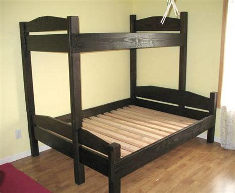 double twin bunk bed free bunk bed plans twin over double woodworking plans