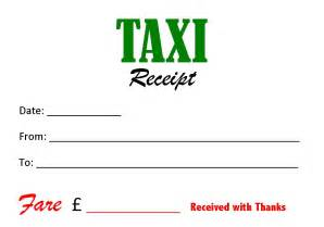 Nyc Taxi Receipt Template Taxi Cab Receipt Images