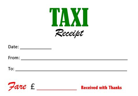 Receipt Template Taxi by Taxi Receipt Template Playbestonlinegames