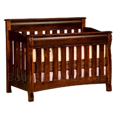 Amish Baby Crib by Solid Wood Cribs Amish 4 In 1 Convertible Crib Caspian