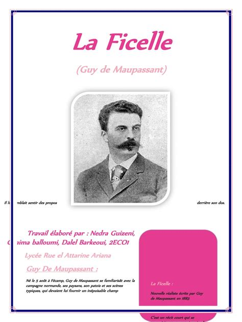 la biography de guy de maupassant la ficelle