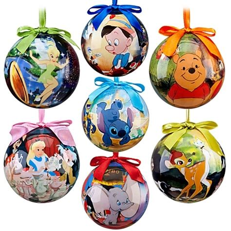 world of disney film classics christmas ornament set 7 pc