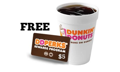 Where To Buy Dunkin Donuts Gift Cards - dunkin donuts 5 gift card free beverage southern savers