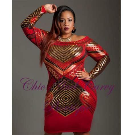Dress Ceria Stripe quot rock your quot in our new plus size black gold the shoulder bodycon