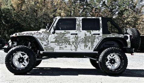offroad jeep graphics digital camo 4 door vinyl decal set for jeep wrangler