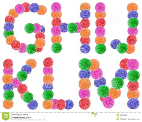 M G Jelly jelly alphabet letters royalty free stock images