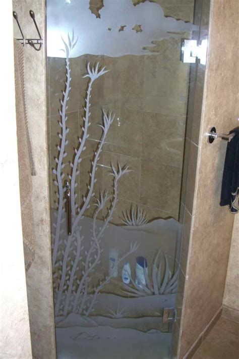 Glass Shower Door Designs Glass Shower Doors With Frosted Designs Sans Soucie Glass