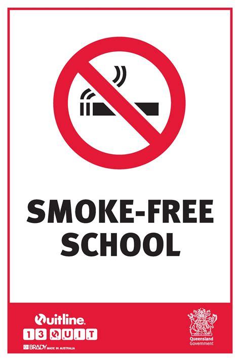 no smoking signs queensland qld state smoke free school