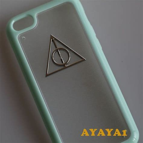 Casing Iphone X Harry Potter And The Deathly Hardcase Custom Cove iphone 5c harry potter deathly hallows iphone 5c iphone 5c mint green color