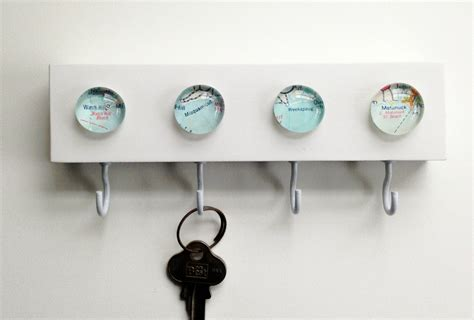 key holder wall vintage map new key hook key rack key holder wall hook
