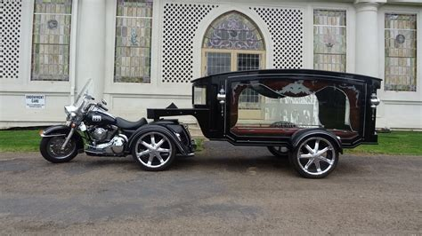 harley davidson hearse funeral chopper 5th wheel