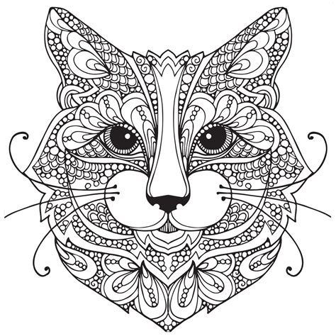 kitten coloring pages for adults adult coloring pages cat 1 coloring pages pinterest