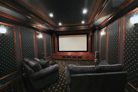 how to create a home theater room decor and lighting