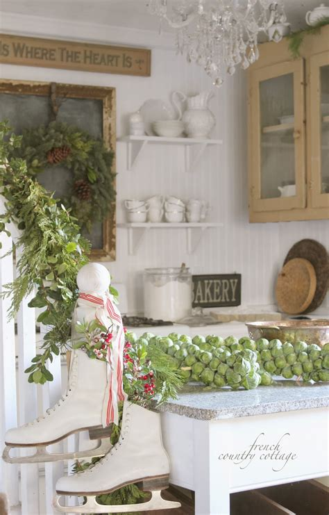 french country cottage christmas decor cottage classic christmas in the little cottage french country cottage