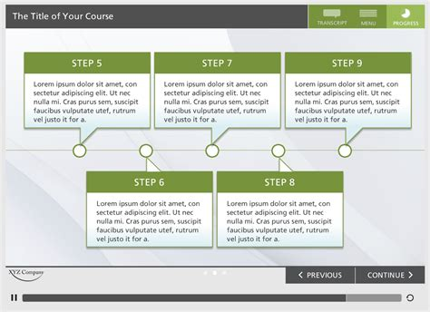 Storyline Template storyline template green elearning locker templates