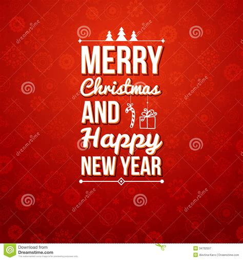 Merry Christmas And Happy New Year Gift Card - merry christmas and happy new year card stock vector image 34732557