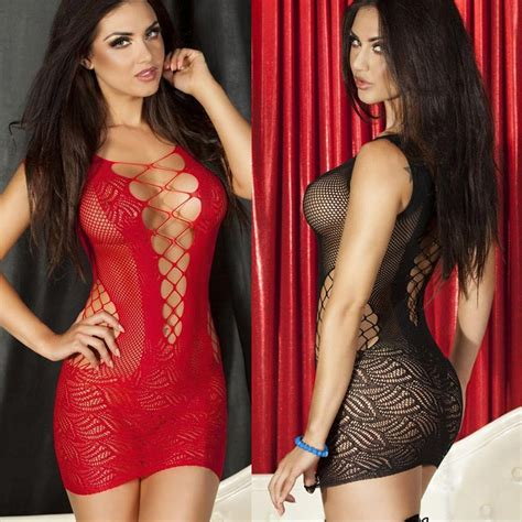 The Interior By See crochet mesh hollow out mini chemise