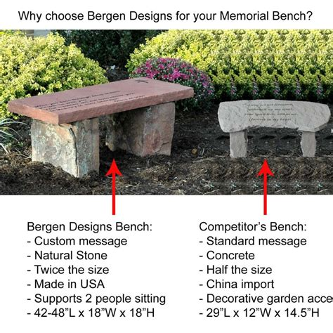personalized memorial benches memorial benches bergen designs