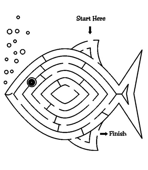 fish coloring pages games fish maze