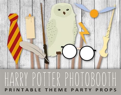 printable harry potter photo booth props harry potter photobooth props wizard party set sign