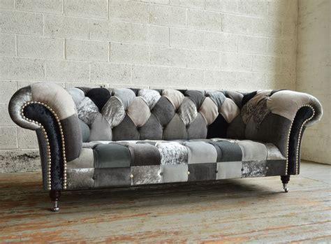 handmade bespoke ghost walton patchwork chesterfield sofa