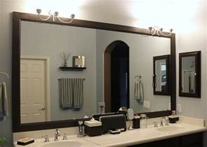 large framed mirrors for bathrooms large black framed mirror for bathroom and vanities