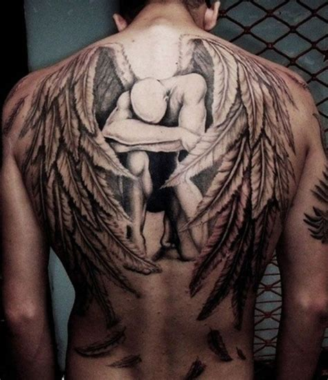 male angel tattoo designs cooltop trends beste tattoos the fallen