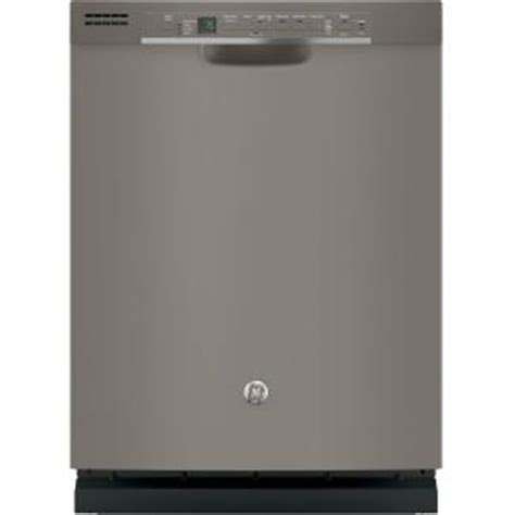 ge front dishwasher in slate with steam cleaning