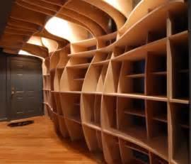 laser cutting edge custom built in wood wall shelves