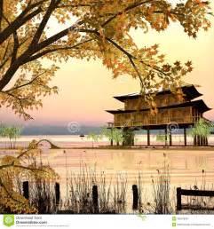 Arts Garden Centre - style de peinture de paysage chinois photos stock image 30907843